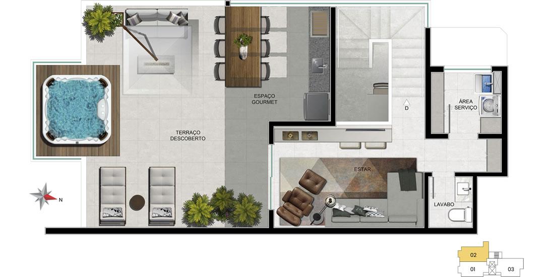 Apartamento 702 - 2° nível