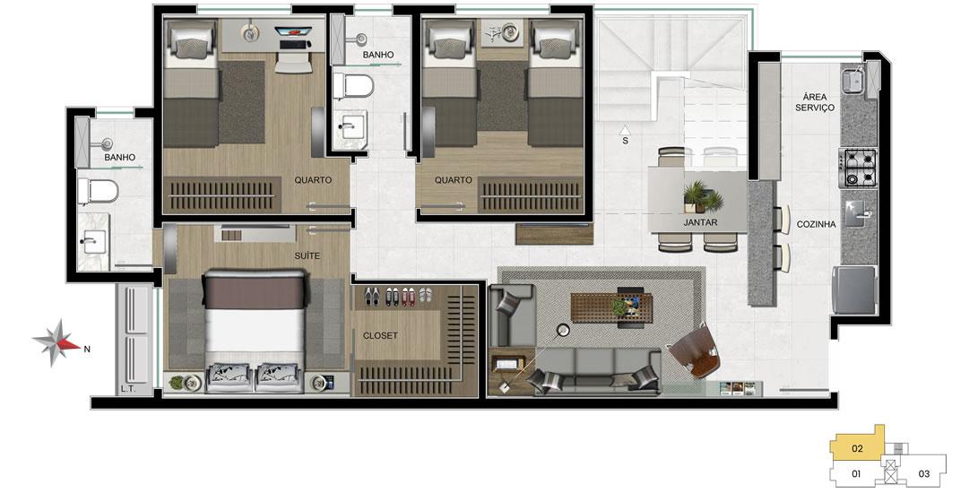 apartamento 702 - 1° nível
