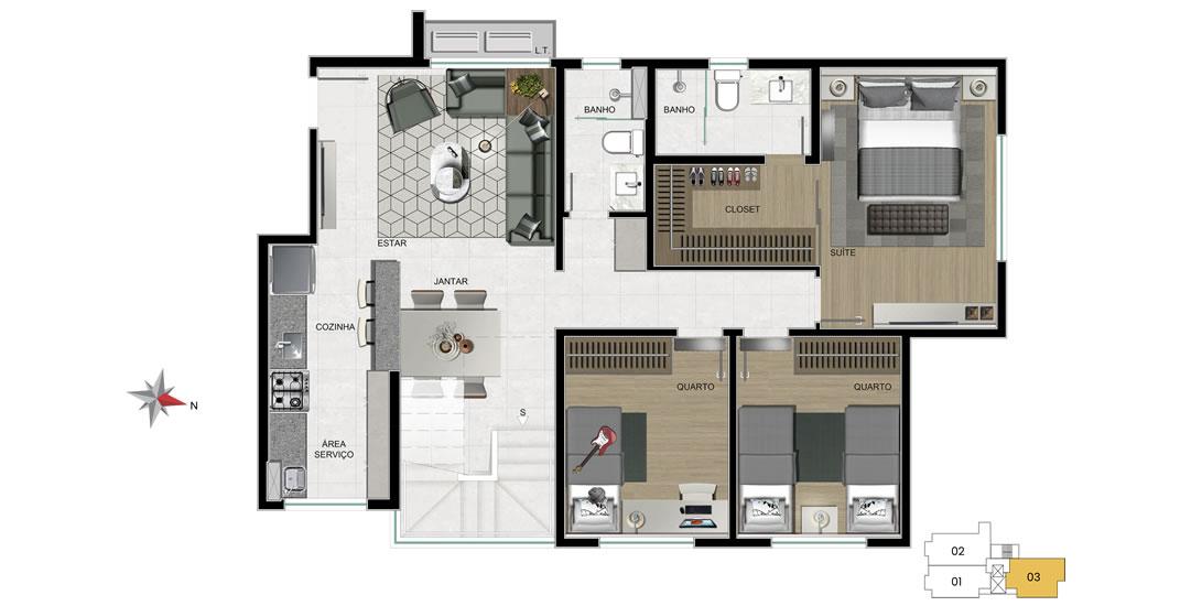 apartamento 703 - 1° nível