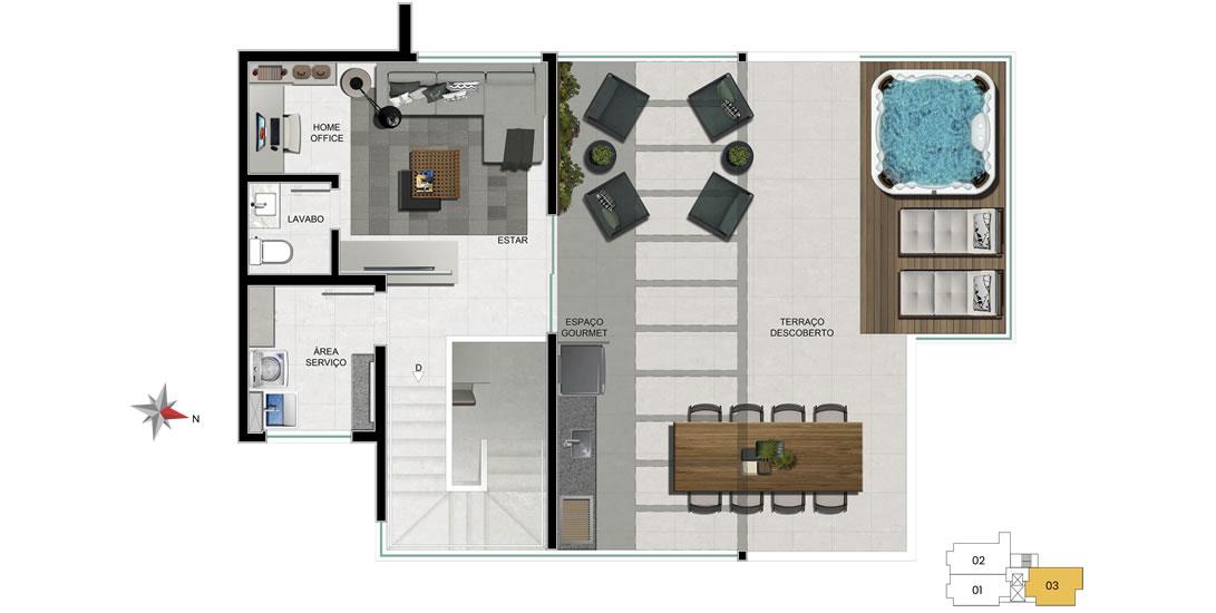 apartamento 703 - 2° nível