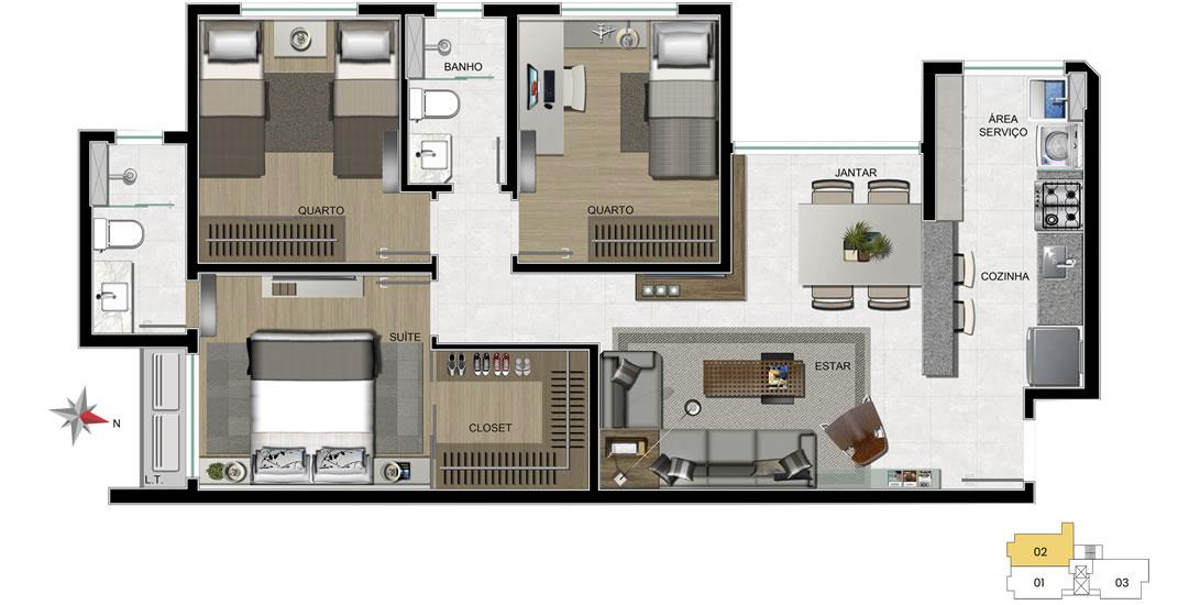 Apartamento tipo final 02